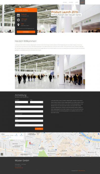 Eventsite Anmeldung VariusSystems