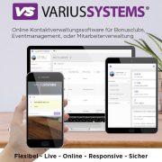 Kundenverwaltung live und online über Smartphone, Tablet oder PC mit VariusSystems
