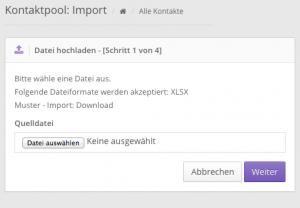 Online Kontaktverwaltungssoftware mit Excel Import - VariusSystems