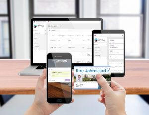 Smarte Jahreskarten Software zur Verwaltung von Besuchern, Fahrgästen, Mitarbeitern oder Kunden - responsive sicher live und online - VariusSystems